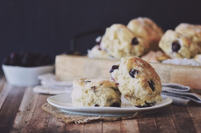 Blueberry & White Chocolate Ginger Beer Scones